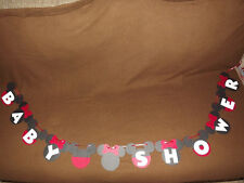 Mickey Mouse or Minnie Mouse( Red or Pink bows) Baby Shower Banner.