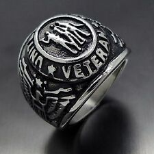 United States US Military Veteran 316L Stainless Steel Ring
