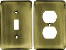 Switch Plate Outlet Cover Wall Rocker Antique Brass