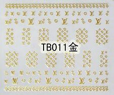 Metal Alloy Logo 3D Gold Silver Nail Art Sticker MANY TO CHOOSE