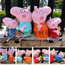 Peppa Pig Family Plush Doll Figure Stuffed Toy Daddy Mummy Peppa George Set DX