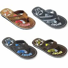 New Men's Sandals Flip Flops Slippers Flat Beach Thongs Casual Shoes Sizes: 7-12
