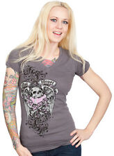 Lethal Threat Lethal Angel Skull T-Shirt Girls Womens