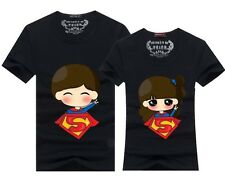 fashion summer Men women tops for  clothes Superman Lovers couple T- shirt