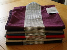 "Table runner strass velours chenille 13 ""x 72"" Choix 7 Couleurs Modernes"
