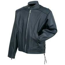 Rocky Mountain Hides™ Solid Genuine Cowhide Leather Cruiser Jacket