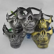 Skull Skeleton Airsoft Game Hunting Biker Half Face Protect Gear Mask Guard Q