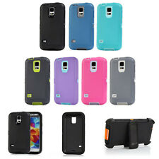New 3 Layer Hybrid Armor Defender Rugged Case w/Belt Clip For Samsung Galaxy S5