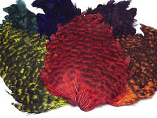 Grizzly Dyed Hen Saddle Cape, Grade AA ,Choice from 7 colours,Fly tying feathers