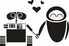 """Wall-e and Robot Decal 6""""x4"""" Disney Sticker, Various Colors FREE SHIPPING"""