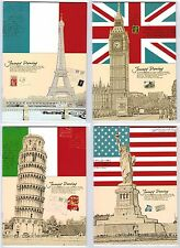 Lot Country Flag Cover Ruled Lined Blank Writing Notepad Diary Journal Notebook
