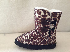 UGG Boots 2 Button Synthetic Wool Colour Brown Leopard For Junior Girl