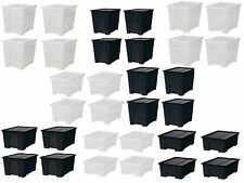 5/11/22/45/65 Litre Large Big Small Plastic stack storage box boxes with lid
