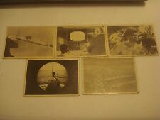 Vintage 1964 Voyage to the bottom of a sea card. selective lot of 5 cards.