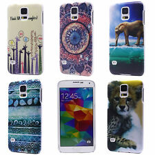 Cartoon Mural Animal Printing Hard Back Case Cover for Samsung Galaxy S5 i9600