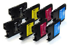 2 FULL Sets of LC980 / LC1100 BROTHER Compatible Ink Cartridges [8 INKS]
