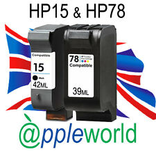 HP15 & HP78 Black & Colour High Capacity Ink Cartridges - Deskjet Officejet PSC