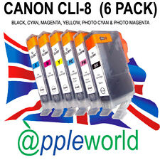 1 FULL SET (6 INKS) of CLI8 Ink Cartridges compatible with Canon Pixma Printers