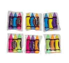 Mini 3 Pack Crayons Erasers Rubbers Filler Pocket Money Birthday Colours School