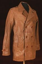 Anthony Vintage Brown Men Smart Double Breasted Cow Hide Leather Jacket