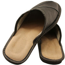 NEW SLIPPERS Scuffs Blacks,Brown Genuine Leather Size (Men's):7, 8,9.5,10,11,12
