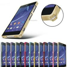 0.7mm Hippocampal Buckle Aluminum Metal Bumper Frame Case For Sony Xperia Z2