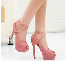 2014 Hot new fashion sexy pink Heels spring summer sandals comfort Women's Shoes