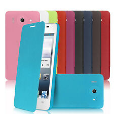New PU Leather Flip Cover Plastic Battery Housing Case Cover For Huawei G510