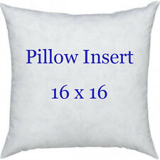 "16 X 16 Accent Pillow Form, 16"" Pillow Sham Insert, Hypoallergenic Pillow Forms"