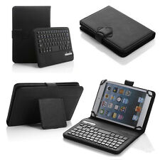 "Universal Bluetooth Keyboard Case Cover For 7"" 8"" 7.9"" inch Tablet PU Leather"