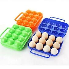 Plastic BBQ Outdoor Camping Portable Carton Holder Egg Storage Tray Box 12eggs