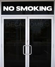 NO SMOKING vinyl decal sticker sign bar grill store shop food vendor smoke rzr