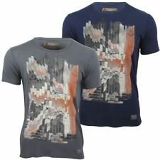 Mens T-Shirt By Ben Sherman Dissected Union Jack Print Crew Neck