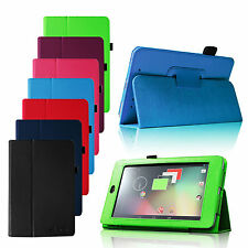 Slim Folio Leather Smart Case Stand Cover for 2012 Google Nexus 7 1st Gen Tablet