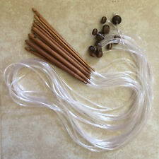 "Bamboo Flexible 50"" Afghan Tunisian Crochet Hooks - Choose Hook Size - US Seller"