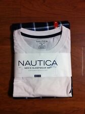 Nautica Mens 2-Piece Sleepwear Set S/S Crew & Knit Pant- M L XL- VeryComfortable