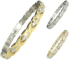 Womens Magnetic Therapy Bracelets Ladies Pain Relief Magnet Bangles In 3 Colours