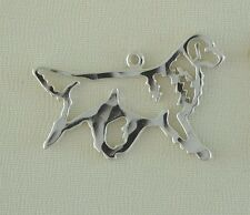 Golden Gaiting Retriever Dog Necklace w/Charm Jewelry ~925 Sterling Silver Metal