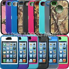 Heavy Duty Hybrid Series Camo Rugger Hard Armor Case Cover for Apple iPhone 4/4S