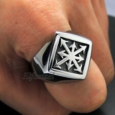 GOTHIC Magic 8 POINTED Chaos Star 316L Stainless Steel Ring