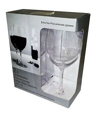Pack of 2 Unbreakable Polycarbonate Wine Glasses - 10 & 18 fl oz Sizes Available