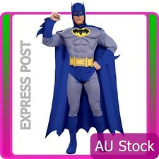 Batman Brave And Bold Muscle Chest Mens Halloween Fancy Dress licensed Costume