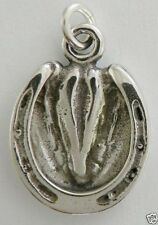 Horse Hoof with Shoe,Design on Back,Necklace w/Charm Jewelry~925 Sterling Silver