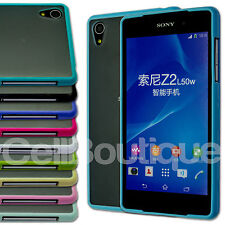 SHOCK PROOF BUMPER CASE TRANSPARENT FROSTED COVER FOR SONY XPERIA Z2 Z1 Compact