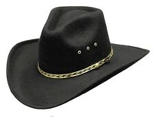 Western Black Forest Faux Felt Pinch Front Cowboy Hat Men's Woman's Kid ALL SIZE
