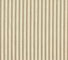 "2 French Country Ticking Stripe Linen Beige 30"" Curtain Panels Tiers Cotton"