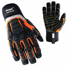 Full Impact-Protection Abration Oil Cut-Resistant Safety Work Gloves M~XL size