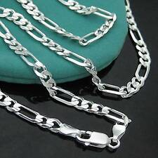 "Wholesale 5pcs S80 Silver 2mm Italy Figaro Link Chain Necklace 16""-30"""