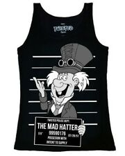 Twisted Steampunk Mad Hatter Alice Wonderland Singlet Tank Top Punk Alternative