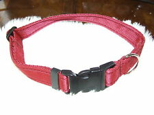 Dogs Buckle, Side Release Collar, Made to order, 16 colours to choose from